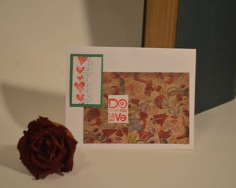 "Greeting Card ""Do What You Love"" encouragement"