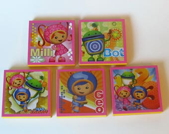 Team Umizoomi Note Pads Set of 5 - Excellent Party Favors - Team Umizoomi Birthday Party - milli - bot - geo