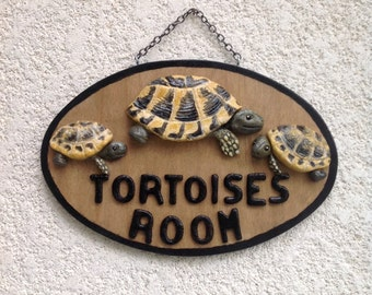 Tortoises room sign