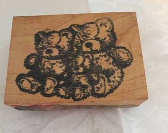 D035 Bears rubber stamp
