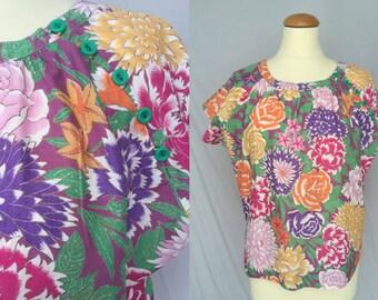 Lush Floral Kimono Blouse 46