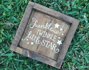 Rustic Twinkle Twinkle Little Star/ Neutral Nursery Decor