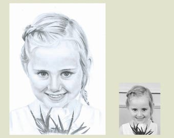 Mothers Day gift, Hand drawn pencil portraits, Personalised gifts for Mom, Art Work, Baby shower gift,
