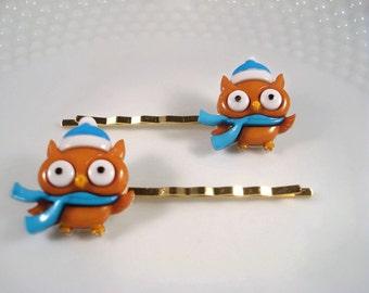 Owl Hair Pins