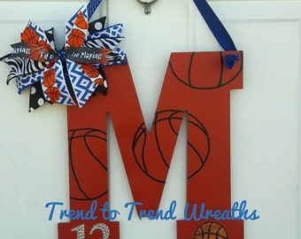 Wooden Basketball Letter Basketball Basketball Wall Decor Basketball Gift Team Gift : basketball door - Pezcame.Com
