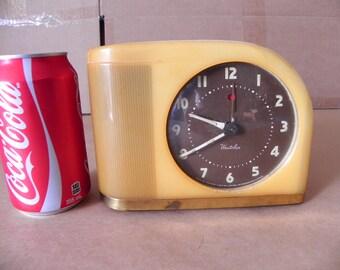 vintage working Westclox bakelite alarm clock