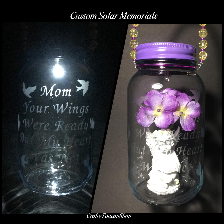 Solar Grave Decorations Mother Loss Cemetery Light Mom Memorial Ornament Mom Grave