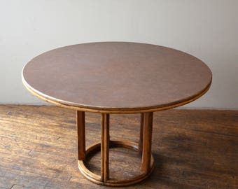 McGuire Bamboo Rattan Round Dining Table