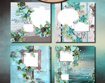 Digital Scrapbook: Quick Page, Sea Kissed