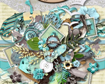 Digital Scrapbook: Elements, Sea Kissed