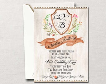 The Wedding Suite that Won the West ~ DIY Printable Invitation~ Country Western Charmer~ Boots and Chaps & Cowboy Hats