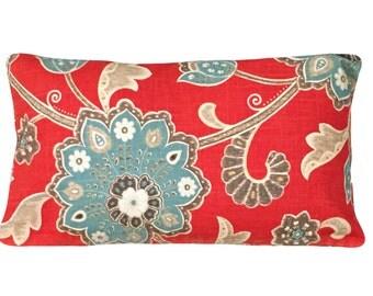 Braemore Ankara Scarlet Decorative Pillow Cover - Throw Pillow - Both Sides - 12x16, 12x20, 14x20, 14x24, 16x16, 18x18, 20x20, 22x22, 24x24