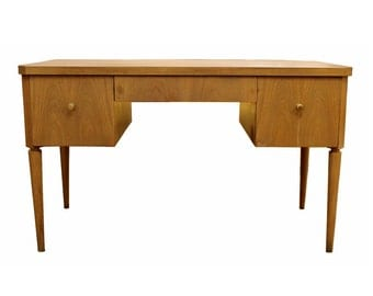 Mid Century Modern Paul Frankl Johnson Furniture Emissary Birch Desk