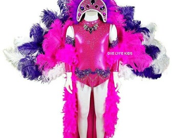SHOWGIRL OOC, Outfit of choice, pink, costume, pageant, feathers, boa, headpiece, crown, circus, Mardi gras, Swarovski, crystal, semi glitz