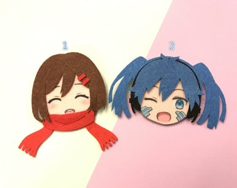 Kagerou Project - Tateyama Ayano and Ene Felt Pins by Nano Angels
