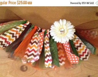 Harvest Chevron Scrap Fabric Tutu