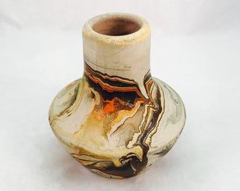 Vintage Southwestern Style Folk Art Nemadgi Pottery Small Vase