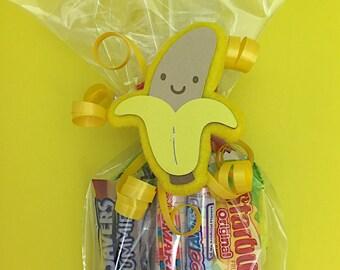 Monkey Birthday Party - Monkey First Birthday - Monkey Party Favors - Monkey Baby Shower - First Birthday Monkey - Banana Favor Bag Tag