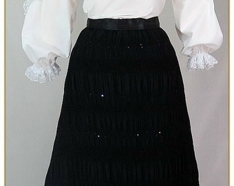 Chiffon Sequin Victorian Skirt