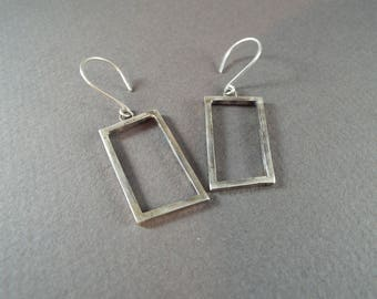 Minimal Earrings / Geometric Earrings/ Rectangle Earrings/ Simple Earrings