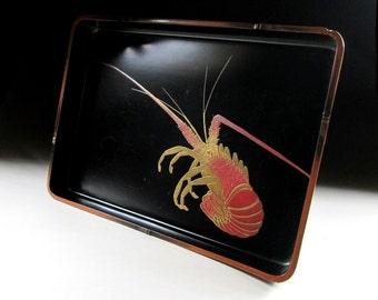 Niigata Take-nuri Lacquerware Tray, Koedo