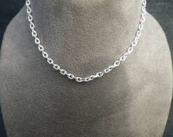 Vintage Sterling Silver Cable Necklace Chain