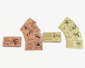 Monopoly Chance and Community Chest Cards Vintage Monopoly Game Pieces Craft Supply