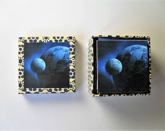 memory game planets space galaxy sun moon vintage matching game