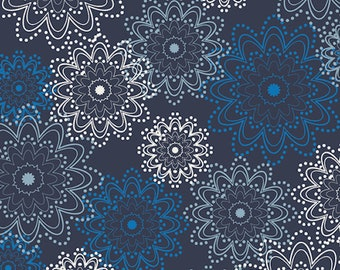Sale Essentials by Pat Bravo ESS-2400 Indigo Sparkles Art Gallery Fabrics Premium Cotton