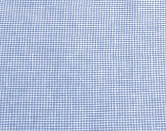 """Sale - Fabric Finders -Baby Blue, 1/16"""" Gingham Check - wide - 80 Linen 20 Cotton"""
