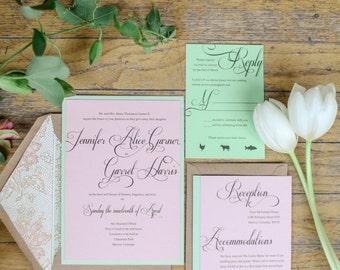 Spring Wedding Invitation | Custom Wedding Invitation