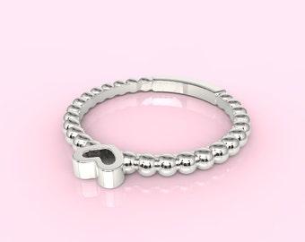 Cute Silver Heart Ring