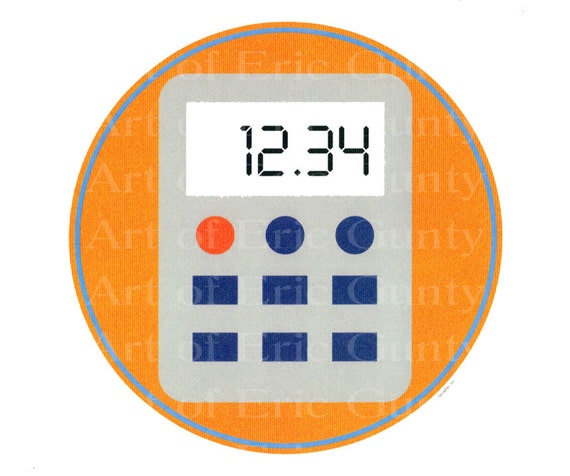 School Math Calculator - Edible Cake and Cupcake Topper For Birthday's and Parties! - D22227
