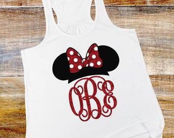 Mouse Girl monogram white tank top