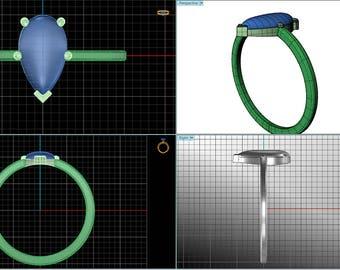 Custom ring design, 3D CAD design, Custom designed rings, Custom design your engagement ring, custom made rings