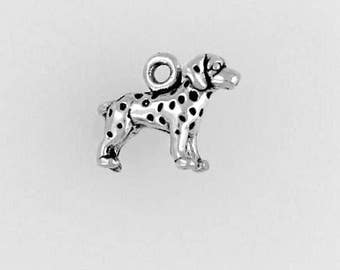 Sterling Silver Miniature Dalmatian, Choice of Adapter, Earrings or Necklace - dc35