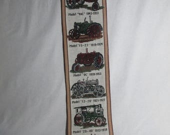 "cotton tapestry bell pull Case Farm Machinery tractors 7"" x 40"""