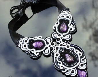 Soutache necklace Themis