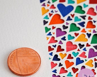 Pale pink heart print – pink heart art– new baby girl gift –first anniversary gift – paper cut art print – love gift – wedding gift