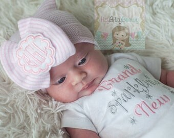 Brand Sparkling New Baby Girls Coming Home Shower Outfit Personalized Custom Name