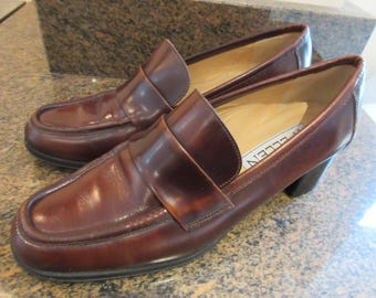 Womens Burgundy Leather Formal Shoes UK Size 4.5  - Nice!!