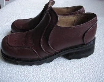 John Fluevog Womens Burgundi/Aubergine Loafers Size US 10 UK 8 EU 41