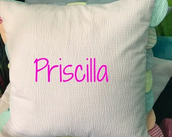 monogrammed kids pillow