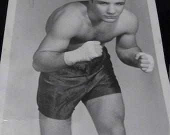 Signed Photograph of Jake La Motta Fighter 1940