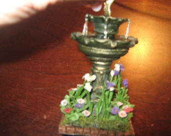 Antique Miniature Water Fountain