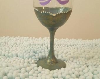Mermaid tail wine glass