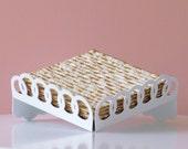 Passover matzah plate - Matzo tray- Seder table decor - Pessach hostess gift , Matzah tray modern Judaica geometric style, made in Israel