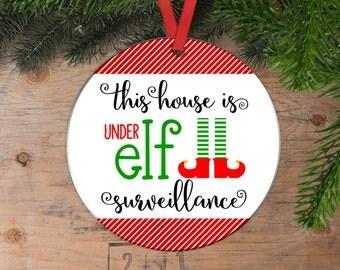 Elf Christmas Ornament - Elf Camera - Elf Surveillance