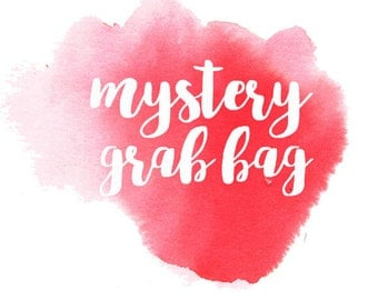 Mystery grab bag with an exclusive NEW sheet - decorative watercolour planner stickers suitable for any planner -MYS-