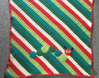Hungry caterpillar baby blanket